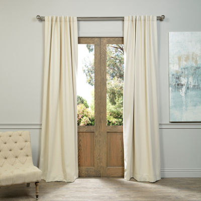 Exclusive Fabrics & Furnishing Rod-Pocket Blackout Curtain Panel