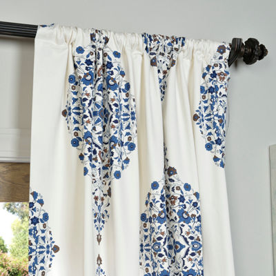 Exclusive Fabrics & Furnishing Kerala Printed Cotton Twill Curtain Panel