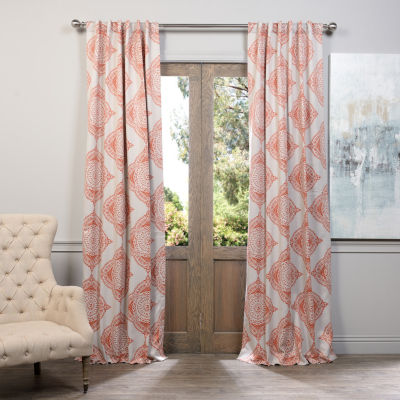 Exclusive Fabrics & Furnishing Henna Printed Blackout Curtain Panel