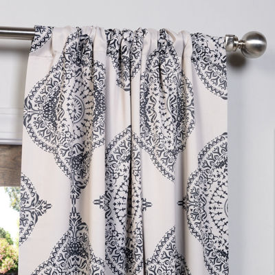 Exclusive Fabrics & Furnishing Henna Printed Blackout Curtain Panel