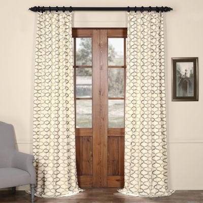 Exclusive Fabrics & Furnishing Illusions Printed Cotton Curtain Panel
