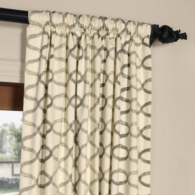 Exclusive Fabrics & Furnishing Illusions Printed Cotton Curtain Panel