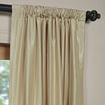 Exclusive Fabrics & Furnishing Vintage Textured Faux Dupioni Silk Curtain Panel