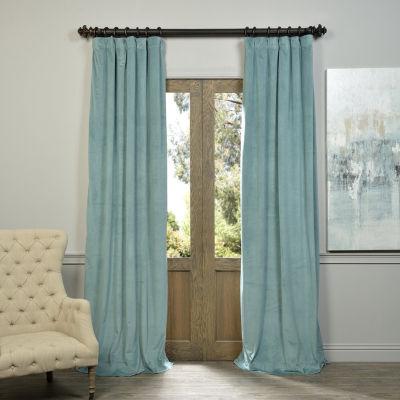 Exclusive Fabrics & Furnishing Signature BlackoutVelvet Curtain Panel