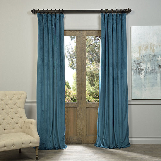 Exclusive Fabrics & Furnishing Signature Blackout Velvet Curtain Panel