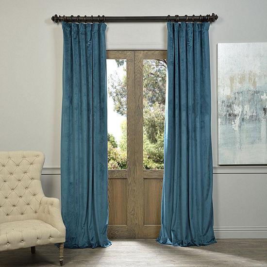 Exclusive Fabrics Furnishing Signature Blackoutvelvet Curtain Panel