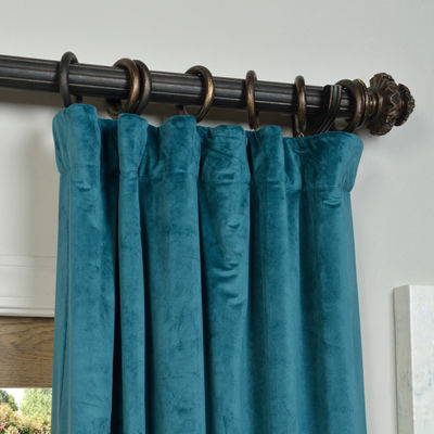 Exclusive Fabrics & Furnishing Signature BlackoutVelvet Curtain Panel