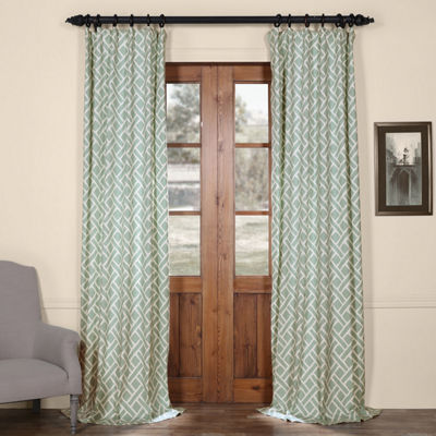 Exclusive Fabrics & Furnishing Martinique PrintedCotton Curtain Panel