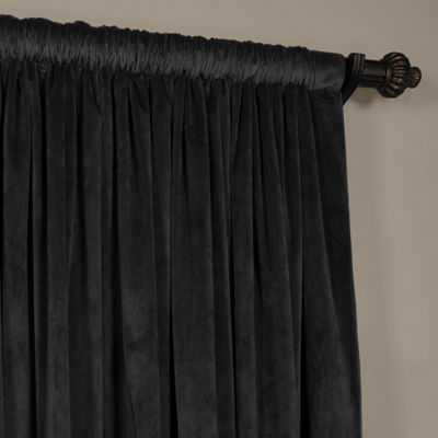 Exclusive Fabrics & Furnishing Signature Extra Wide Blackout Velvet Curtain Panel
