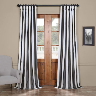 Exclusive Fabrics & Furnishing Presidio Faux SilkTaffeta Stripe Curtain Panel