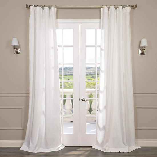 Exclusive Fabrics & Furnishing Signature French Linen Sheer Curtain Panel