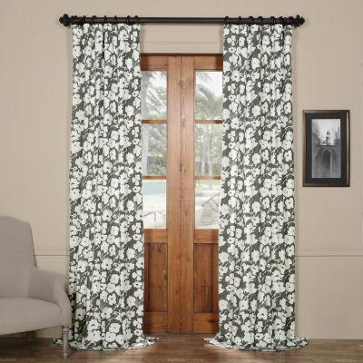 Exclusive Fabrics & Furnishing Van Gogh Printed Cotton Twill Curtain Panel