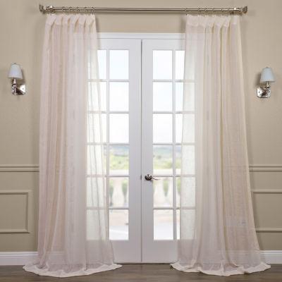 Exclusive Fabrics & Furnishing Open Weave Linen Sheer Curtain Panel