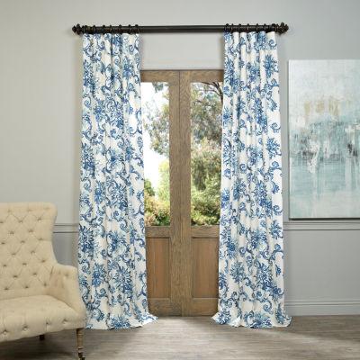 Exclusive Fabrics & Furnishing Indonesian PrintedCotton Twill Curtain Panel