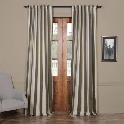 Exclusive Fabrics Furnishing Vertical Striped Blackout Curtain Panel Jcpenney