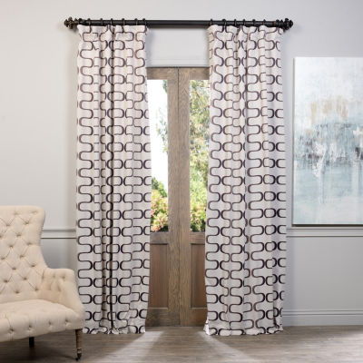 Exclusive Fabrics & Furnishing Retro Blackout Curtain Panel