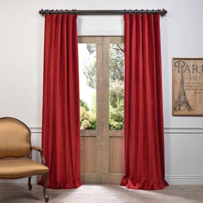 Exclusive Fabrics & Furnishing Vintage Cotton Velvet Curtain Panel