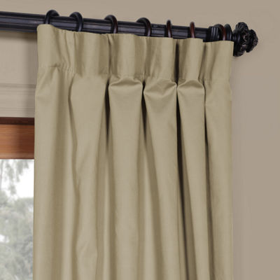 Exclusive Fabrics & Furnishing Solid Cotton Curtain Panel
