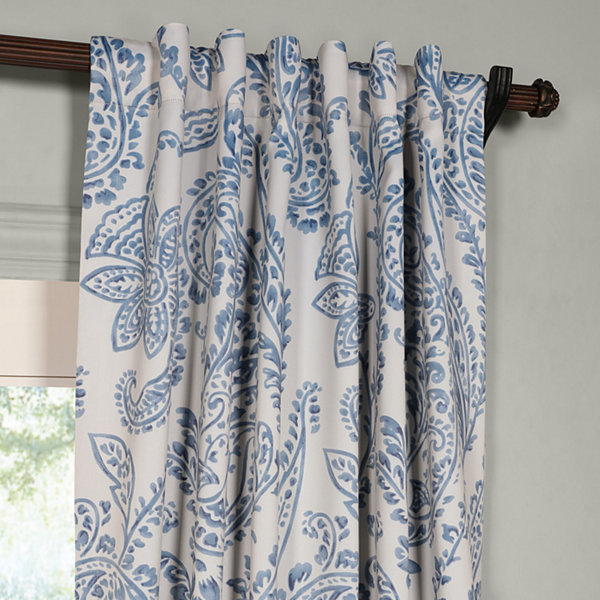 Exclusive Fabrics & Furnishing Tea Time Blackout Curtain Panel