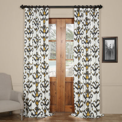 Exclusive Fabrics & Furnishing Lumiere Printed Cotton Twill Curtain Panel