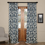 Exclusive Fabrics & Furnishing Fleur Printed Cotton Twill Curtain Panel