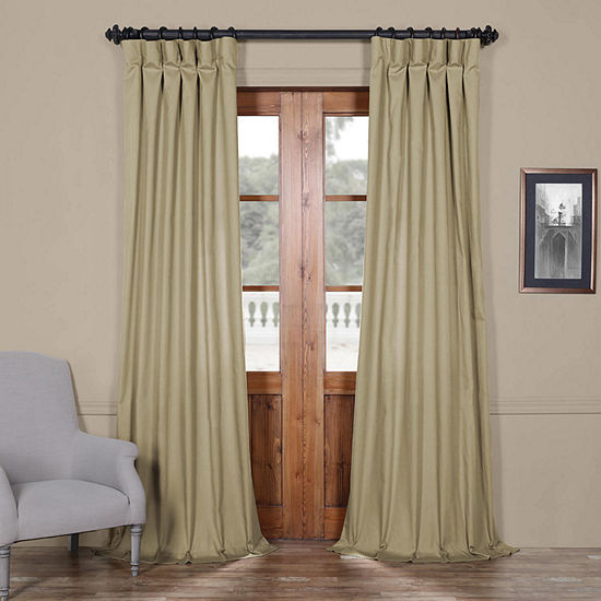Exclusive Fabrics Furnishing Solid Cotton Curtain Panel