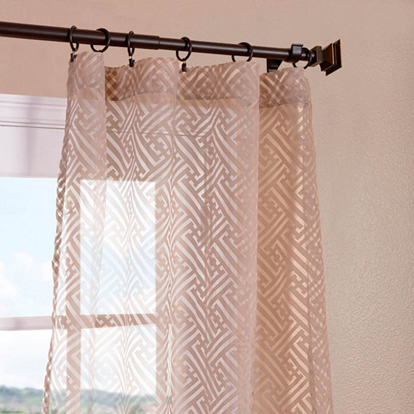 Exclusive Fabrics & Furnishing Zara Patterned Sheer Curtain Panel