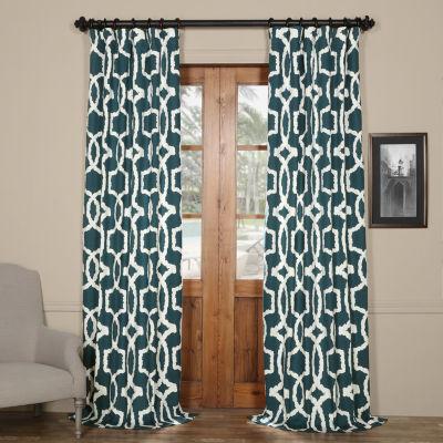 Exclusive Fabrics & Furnishing Lyons Printed Cotton Twill Curtain Panel