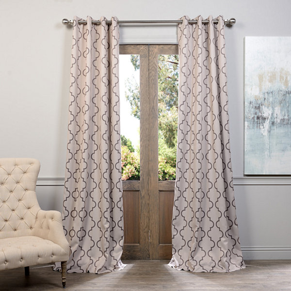 Exclusive Fabrics & Furnishing Seville Grommet-TopBlackout Curtain Panel