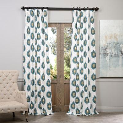 Exclusive Fabrics & Furnishing Mayan Printed Cotton Curtain Panel
