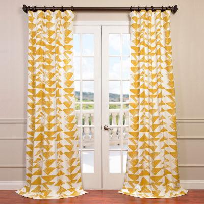 Exclusive Fabrics & Furnishing Triad Printed Cotton Twill Curtain Panel
