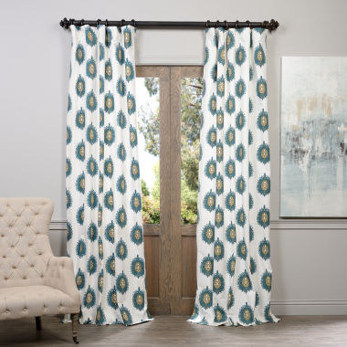 Exclusive Fabrics & Furnishing Mayan Printed Cotton Curtain Panel