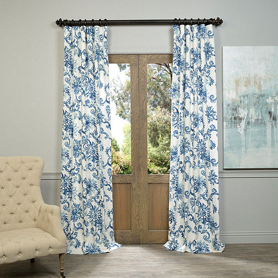 Exclusive Fabrics Furnishing Indonesian Printedcotton Twill Curtain Panel