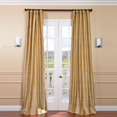 Exclusive Fabrics & Furnishing Textured Dupioni Silk Curtain Panel