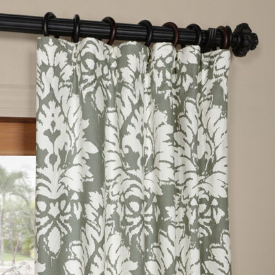 Exclusive Fabrics & Furnishing Lacuna Printed Cotton Twill Curtain Panel