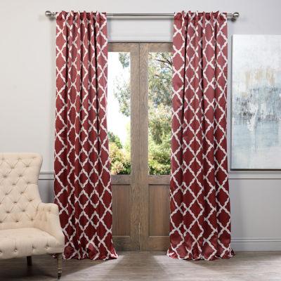 Exclusive Fabrics & Furnishing Trellise Blackout Curtain Panel