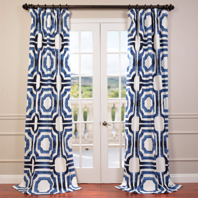 Exclusive Fabrics & Furnishing Mecca Printed Cotton Curtain Panel