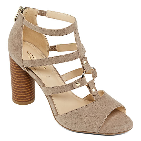 Liz Claiborne Womens Bahati Wide Width Heeled Sandals