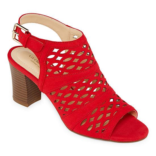 Liz Claiborne Womens Gloria Heeled Sandals Wide Width