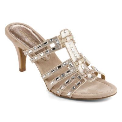 Ann Marino Womens Artists Gift Heeled Sandals