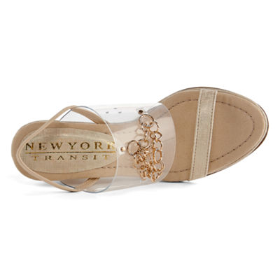 New York Transit Womens Lavishing Wedge Sandals