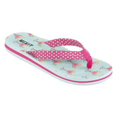 Mixit Womens Cookie Comfort Thong Flip-Flops