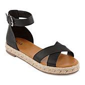 c4a5fec651c2 a.n.a Womens Broome Adjustable Strap Flat Sandals