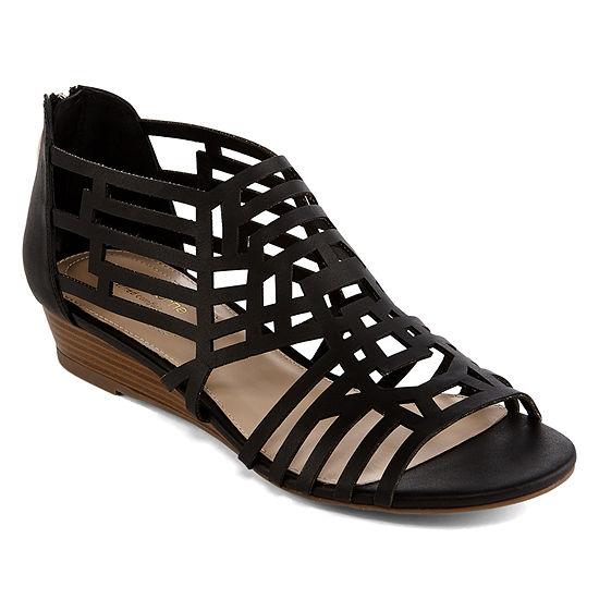 Liz Claiborne Womens Adelaine Heeled Sandals