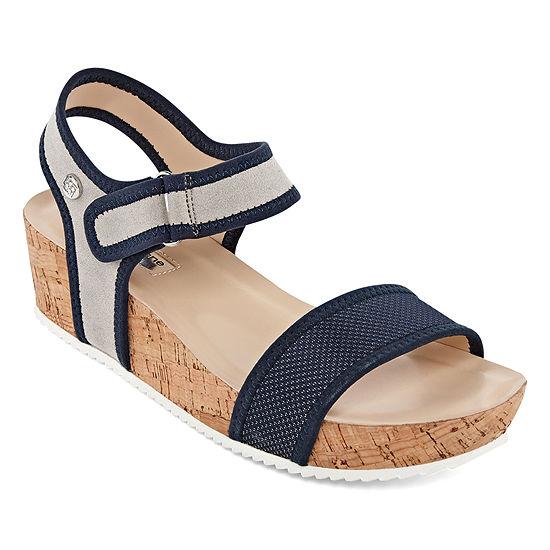 Liz Claiborne Womens Eadie Adjustable Strap Flat Sandals