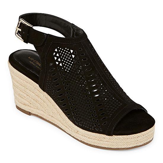 e359cefc6f8f8 Liz Claiborne Womens Hardie Wedge Sandals - JCPenney