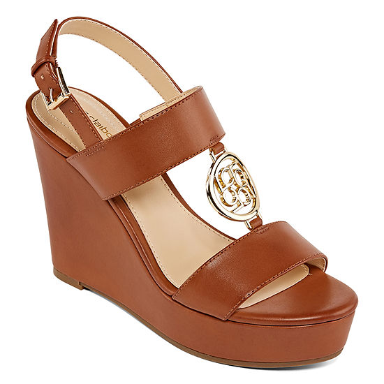 Liz Claiborne Womens Ivana Wedge Sandals