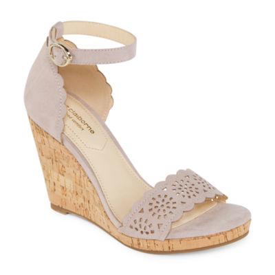 Liz Claiborne Womens Janessa Wedge Sandals