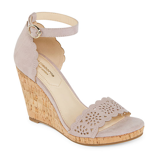 Liz Claiborne Womens Janessa Wedge Sandals