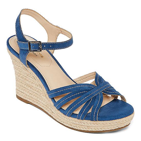 d2382c548312 Liz Claiborne Womens Magenta Wedge Sandals - JCPenney